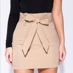 Dresses & Skirts - Paperbag waist mini skirt